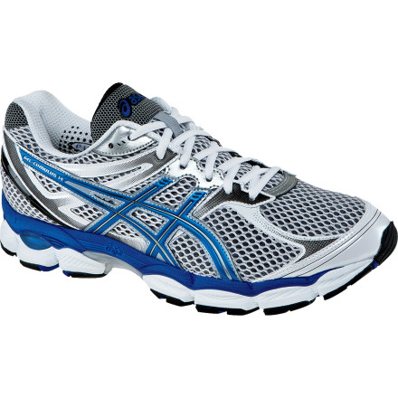Fitness Asics Men's GEL-Cumulus 14 Running Shoe is not only lighter than last year's model, it's more breathable and cushioned than ever. The stable platform of the Cumulus 14 makes it ideal for under-pronators to mild over-pronators with high to normal arches. - $109.95
