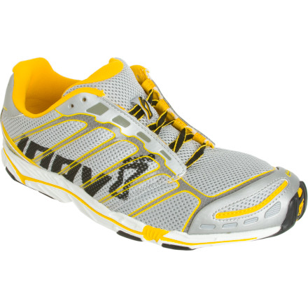 Fitness You want to get into a minimalist running shoe, but you'd rather make a smart, slow transition instead of just dashing outside barefoot. The Inov 8 Road-X 255 Running Shoe has a 9mm difference from heel to toe which offers a smooth transition into the minimalist running world. Basically, this means you can gradually go from striking with your heel (which you do on the raised heel of non-minimalist shoes) to striking with your forefoot. Cushioning underfoot supports both racing and everyday training, and the sticky rubber outsole handles slippery terrain. - $65.97