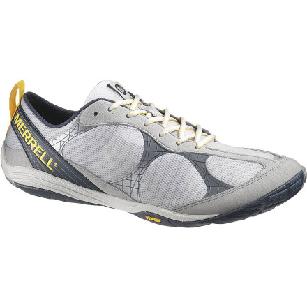 Fitness The Merrell Men's Road Glove Running Shoe features a zero heel/forefoot drop for ultimate road feel, but it doesn't completely leave your foot unprotected. The Road Glove's 4mm compression-molded midsole offers light cushioning on paved roads and concrete sidewalks without interfering with your barefoot form. - $65.97
