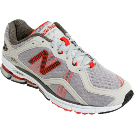 Fitness Maybe you're rocking the old-school heel strike, maybe you're a total midfoot runner, or maybe you're somewhere in between and still tweaking your running technique. Whatever your running style, the New Balance Men's 1770 Running Shoe comes with supremely lightweight materials that are designed to give you a barefoot feel without sacrificing the comforts of cushioning. - $71.98