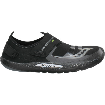 Fitness There's no need to run inside during misty or rainy weather when you have the Saucony Men's Hattori AW Running Shoes on. These all-weather minimalistic kicks protect your feet from the elements and offer superb support while you pound pavement, grass, or packed dirt. - $58.47
