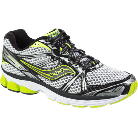 Fitness The Saucony Men's ProGrid Guide 5 Running Shoe lost some weight, so now it's easier for you to shed those pounds you put on over the holidays. A full 1.5 ounces lighter than last year's model, the Guide 5 offers stability and support without the weight so your feet can fly. Saucony has also reduced the heel/forefoot offset to 8mm to encourage a stable and balanced position when your foot hits the pavement and to propel it through the stride. - $71.47