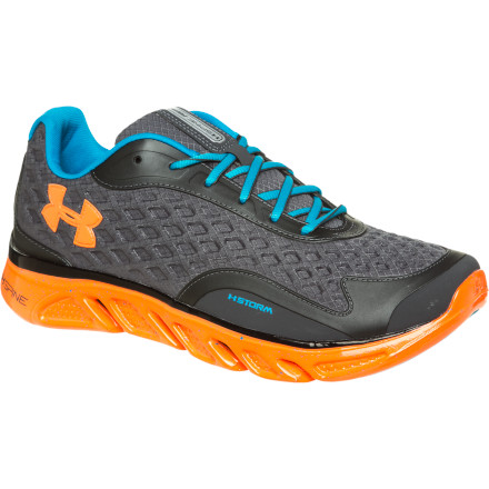 Fitness Battle through the longest, hardest training sessions at the gym when you're wearing the Under Armour Men's UA Spine RPM Storm Running Shoe. This shoe soaks up the impact of running stairs, weight lifting, and plyometrics, all while shrugging off light moisture and precipitation when you take to the road for a mile cool-down. At its core, this shoe is all about support and stability when you're involved in quick, explosive movement, so lace it up and hit the gym. - $71.47