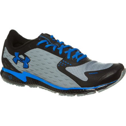 Fitness Rain or shine, the Under Armour Men's UA Micro G Storm Running Shoe keeps you moving fast on the road. This shoe's liner moves sweat away from your skin, and the breathable, water-resistant upper keeps your foot dry when the rain starts to fall. This shoe is built on a supportive, performance chassis that's explosive and quick off the toes and damp and cushioned when the road turns rough. - $64.97