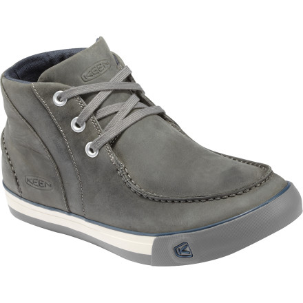 The KEEN Timmons Chukka Shoe is a classy alternative to your scummy, stinky, sneakers. The soft nubuck leather upper is supple and easy to clean, while the natural canvas lining envelopes your foot in velvety softness. The KEEN.CUSH PU and memory foam footbed can be removed in a jiffy for quick drying and supports your arch for all day comfort. - $50.00