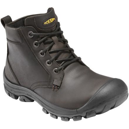 Camp and Hike So you need a supportive boot that suits a wet trot through the city as much as it does a dry hike in the hills on a summer day' Well, the leather KEEN Men's Ontario Boot has you covered with its full-grain leather and supportive, but not overly clunky, design. - $149.95