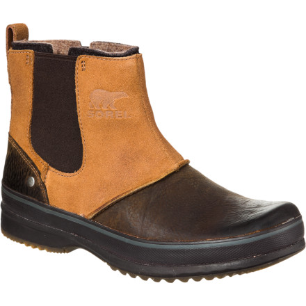 The Sorel Ellesmere Felt Collar Boots serve up casual urban style while giving you quality and all-around weather protection. These above-the-ankle boots are great for when the weather turns chilly, but you don't want to trudge to work in your bulky snow boots. - $95.97