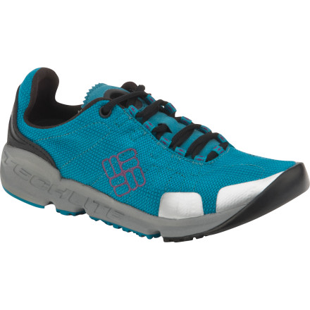 Fitness The Columbia Women's Descender Trail Running Shoes are breathable and comfortable for exploring the woods at a good clip, and they have the technical toughness you need to explore the trails around base camp or scramble down from a freshly conquered climb. - $39.98