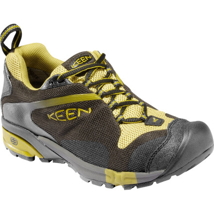 Fitness Pick up a pair of KEENs Tryon WP Trail Running Shoes for lightweight, rugged off-road performance. These waterproof shoes absorb blows from rocks and ruts and offer plenty of heel and toe protection. - $71.97