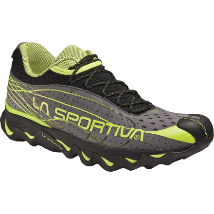 Fitness Versatile cushioning technology allows the sole of the La Sportiva Women's Electron Trail Running Shoe to soak up the impact of abusive trails so your knees and feet don't have to. Technical trail runs require agility, and the Electron helps you stay quick on your feet for a plush, light-and-fast ride through the woods. - $80.97