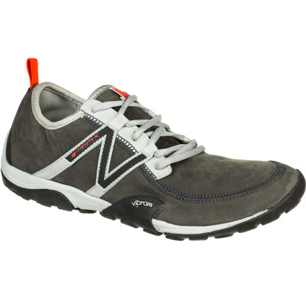 Fitness You could go barefoot, but that would mean dirt, mud, and rock in your toes; why not go minimalist in the New Balance Women's MT10 Minimus Leather Trail Running Shoe, with leather upper and Vibram sole to keep pebbles out of your little piggies. Low, lean, lightweight, and grippy, this shoe will take you wherever you want to run, in a civilized and pain-free fashion. - $71.97