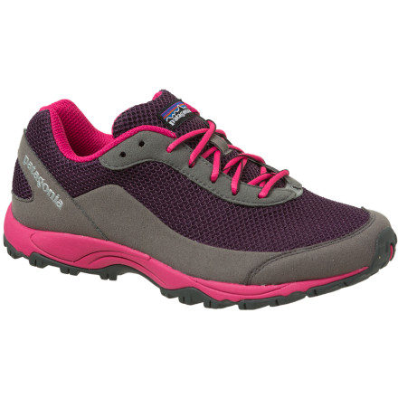 Fitness Featuring the ideal blend of minimalist padding, toe protection, and weight-savings, the Patagonia Women's Fore Runner Trail Running Shoe is sturdy enough to be your daily trainer and lightweight enough to give you an edge come race day. - $66.00