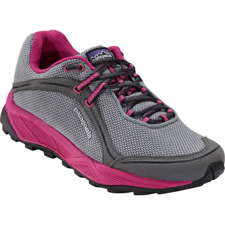 Fitness Patagonia designed its Womens Tsali 2.0 Trail Running Shoe to tackle three-season trail runs with comfort and ease. Weighing in around 17-ounces per pair, the Tsali cradles and protects your foot without slowing your stride. A lightweight EVA footframe and footbed dish out extra cushioning, and the sticky rubber outsole for lizard-like traction on all types of surfaces. - $86.25