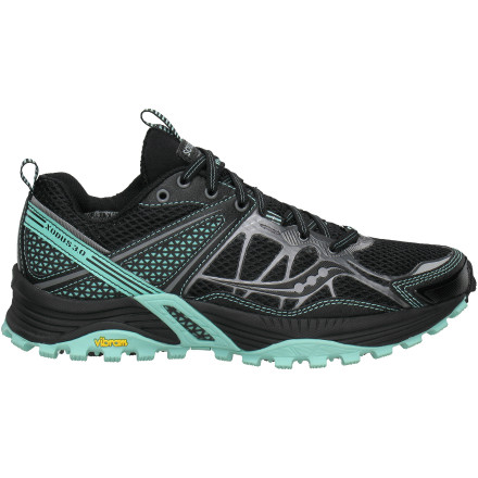 Fitness Roll through rugged mountain trails like they're sidewalks in the city when you're wearing the Saucony Women's ProGrid Xodus 3.0 Trail Running Shoe. Saucony engineers added multiple levels of dynamic cushioning, a sole that grips the trail with Kung-Fu-like authority, and a low heel-to-toe offset so your foot rolls easily through each foot strike on the ground. - $54.98