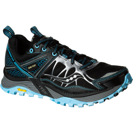Fitness It's a sure thing: if you run outside you'll eventually encounter soggy trails and wet weather. So, when you smell rain on the horizon, reach for the Saucony Women's ProGrix Xodus 3.0 GTX Trail Running Shoe and keep your toes dry. This off-road shoe features a Vibram outsole for traction on wet surfaces or dry, and all the stability and cushioning you need confidently glide over miles of trails. - $129.95