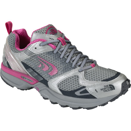 Fitness Over-pronators can hit the trail with confidence when wearing The North Face Double-Track Trail Running Shoe. This stable, lightweight trail shoe features a Terrain Harness stability-engineered platform with the X-Dome Cradle Support that controls pronation on the heel strike without affecting mid- and forefoot feel on uneven ground. - $35.99