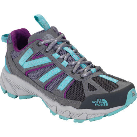 Fitness Ditch your old, de-lamented kicks and get yourself a pair of the North Face Women's Ultra 50 Trail Running Shoes. Designed specifically for trail running, these lightweight shoes have breathable mesh uppers, accordion forefoot details, and low arch support to ensure comfort on the trail. - $44.98