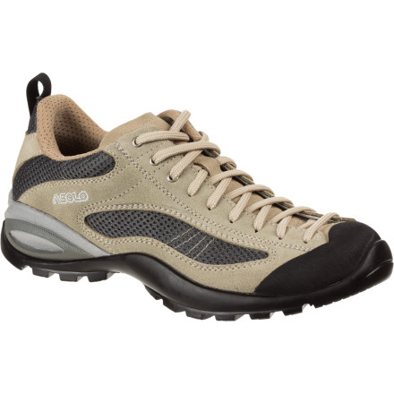 Camp and Hike The Asolo Women's Sunset Shoe allows you to catch the sunset at a high perch in Arches National Park, hike Angel's Landing, or scramble up a relatively steep red rock face. - $62.48