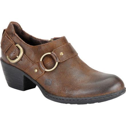 The Women's Zowy Shoe from Born features full-grain leather and a buckled strap for a classic look. The two-inch heel provides a little extra height while the tucker board and steel shank add support for long days on your feet. - $87.96