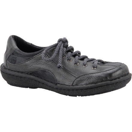 Camp and Hike Match your busy outdoor lifestyle with the Born Shoes Women's Torna Shoe. This rugged, earth-colored sport shoe uses durable full-grain leather and Opanka construction to deliver support, comfort, and stability when you take a short hike after work, explore mountain-town shops, or catch a local softball game. - $54.98