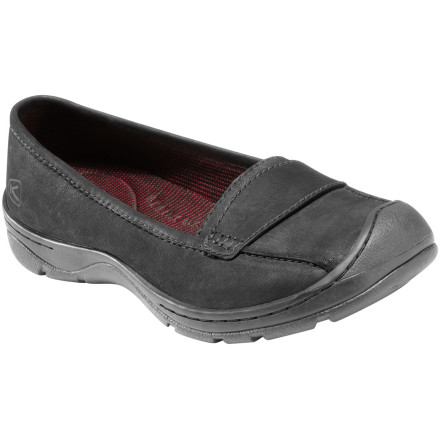 Slide your foot into the KEEN Women's Sterling City Slip-On Shoe and relish in its comfort and style as you make your way to the park for some fresh air, sunshine, and green grass. - $89.95