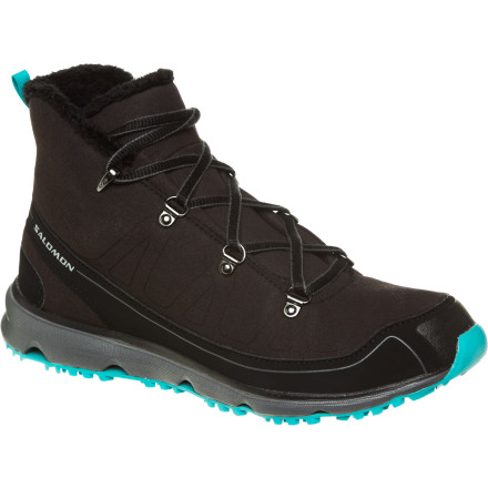 Camp and Hike Before hitting the trail on those crisp late fall and mild winter days, lace up the Women's S-Fly Mid CS Winter Shoe from Salomon for subtle retro styling and high-tech weather protection. The Climashield waterproof membrane blocks water and allows your foot to breathe while the protective toe cap makes the boulder-hopping section of trail a little less treacherous. You'll appreciate the athletic inspired natural motion midsole for long lasting comfort that keeps you moving late into the day. - $69.98