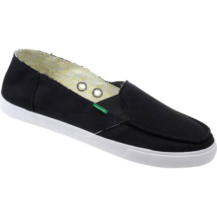 Surf The Sanuk June Bug Shoe doesn\t step on spiders or burn ants with a magnifying glass. This vegan and vegetarian shoe with handmade canvas uppers loves your feet and the animals. - $36.37