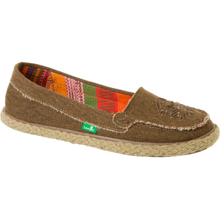 Surf The Sanuk Women's Espathrill Shoe is as friendly to the environment and living creatures as your style. Totally vegan, vegetarian, and cute, the Espathrill Shoe's streamlined shape gently hugs your flipper and cushions every step as you gracefully cross paths with curious dudes on your way to meet the sun (on the sand). Yep, it feels like a slipper with the comfort of a sandal and the light support of a shoe ... so that makes the thrilling new style called slandoe. Totally made that up, but not the fact you're about to experience comfort like never before. - $33.57