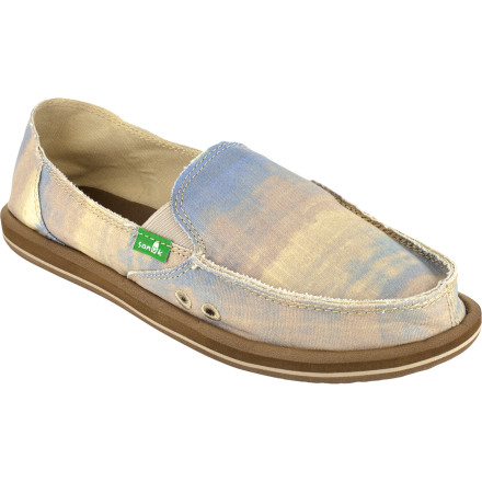 Inspired by the beach but with style and comfort you can take anywhere, the Sanuk Women's Windswept Shoe is the next best thing to working on your tan, building sandcastles, and, of course, having windswept hair. The Windswept features a handmade textile upper with frayed detail, a high-rebound EVA footbed, and Sanuk's trademark Happy-U solefor leaving smiley faces everywhere you go. - $37.77