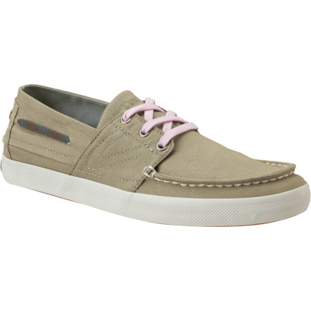 Comfy canvas fused to the rubber soles of the Tretorn Women's Otto Canvas Shoes offers a nice touch of style and breathability for the lady who loves shoes but doesn't always love socks. - $32.48