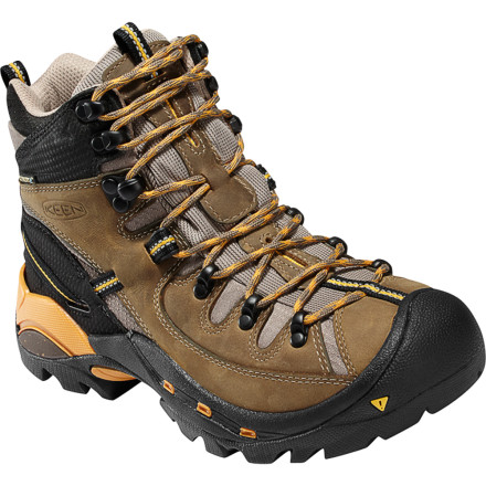 Camp and Hike Boots don\342\200\231t do much good if you have no place to hike, so KEEN made the Women\342\200\231s Oregon PCT Hiking Boots with all-natural materials to cut down on your carbon footprint. A combination of leather, nylon, and synthetic fabrics help the upper take the abuse of a burly hike while providing excellent breathability. Count on the waterproof breathable KEEN.DRY insert to hold off moisture when conditions get a bit on the wet side. KEEN even added non-marking soles to give you top-notch traction on the trails without scuffing your kitchen floor when you get home. - $101.97