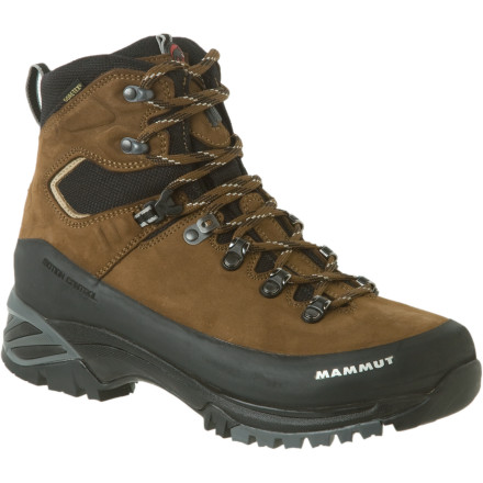 Camp and Hike The Mammut Women's Appalachian GTX Backpacking Boot may be simple and streamlined in appearance, but don't be deceived; it packs a host of technical features that will make your next alpine adventure on of your best. Regardless of what kind of weather you face on that excursion, your feet will stay dry and comfortable thanks to the Gore-Tex waterproof breathable insert under the nubuck leather and nylon shell. - $207.16