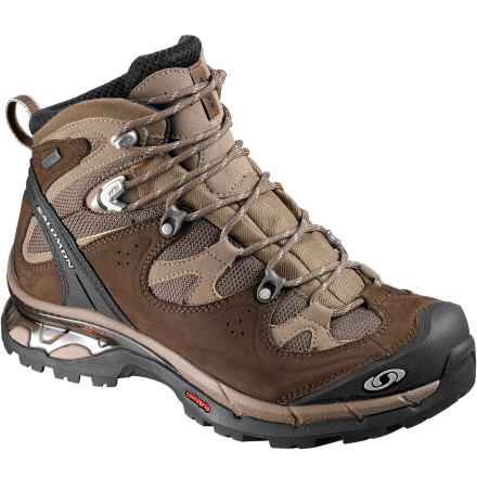 Camp and Hike Pull on the Salomon Comet 3D Lady GTX Backpacking Shoe when you're shouldering heavy packs through unpredictable weather and tricky terrain. The Comet's Gore-Tex waterproof breathable membrane prevents heat and moisture build-up while blocking external moisture (so your foot doesn't get drenched when it's raining and you're working up a sweat). - $199.95