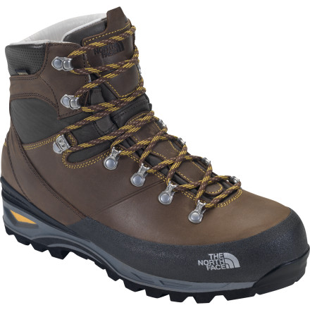 Camp and Hike Here it is: The North Face Women's Verbera Backpacker GTX Boot is the strong back of the Verbera technical hiking boots line. Load a heavy, multi-day pack, slide your foot inside this boot, and the Italian-leather craftsmanship, Gore-Tex waterproofing, and supportive design will take care of the rest. - $259.95