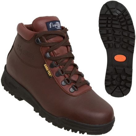 Camp and Hike When you're in the middle of a week-long backpacking trip in the North Cascades and it starts to pour, you'll be glad you're wearing the Vasque Women's Sundowner GTX Backpacking Boots. Veteran hikers know this boot for its simple style and comfortable fit, but it's the Gore-Tex insert that really make these boots shine. A knit nylon liner shuttles moisture from your feet to the Gore-Tex membrane, which lets the moisture pass through while keeping water from rain or puddles out. A high cut and burly waterproof leather upper provides plenty of ankle support while you're shouldering a heavy pack. Vasque also gave the Sundowner GTX a dual density EVA midsole to cushion your feet over miles of wilderness terrain. - $143.96