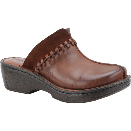 Slip your feet into the Born Shoes Women's Ellendale Clogs, grab your pooch's leash, and take your pup out before he explodes from pent-up energy. These comfortable leather clogs slide easily on and off so you can get out the door quickly. - $56.97