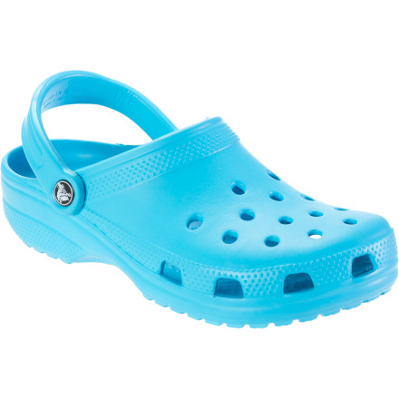 Entertainment When Saturday morning consists of watering your leafy friends in the garden, slip on the Crocs Women's Classic Clog and spend some time with your tomatoes. Since Crocs made the Classic with Croslite closed-cell resin and a water-friendly design, you can be sure it cleans easily, drains in the water, and flexes comfortably. - $26.96