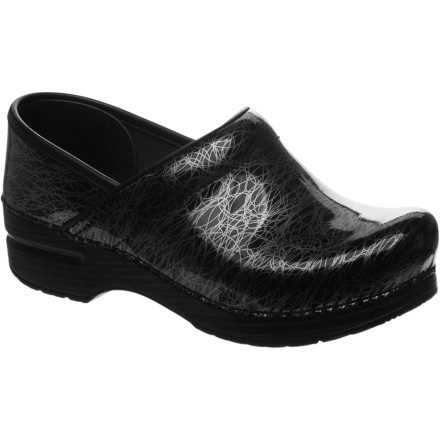 Ladies, turn to the Dansko Women's Professional Specialty Patent Clog when you're on your feet all day long. Its superb support provides all-day comfort while you rush the kids around, scurry around the office, or work an intense restaurant job. - $107.96
