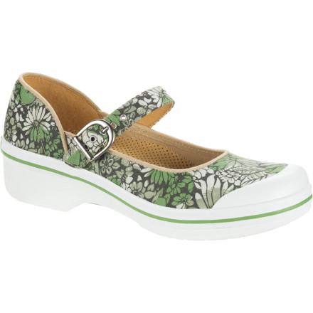 Step into the Dansko Women's Valerie Floral Canvas Clog for a playful style that matches your attitude. The Valerie's colorful splash of floral patterning adorns a competent and confident framework that proves that the playful shoe doesn't have to be a lazy one. - $37.48