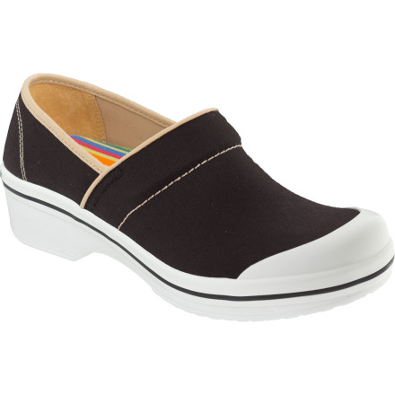 The Dansko Women's Volley Canvas Clogs allow you to race around town, sight-see, or rush to the office without any unnecessary feet aches or pains. - $55.96