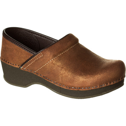 Classic Dansko silhouette with old-timey, sophisticated feel: the Women's Crepe Pro Clog. With a suede upper that recalls the bygone days of durability, reliability, and quality shoes that lasted generations, these flexible, cushioned, ubercomfy clogs will stick with you until you pass them down. Perhaps you should ask your successor what color she prefers. - $80.97