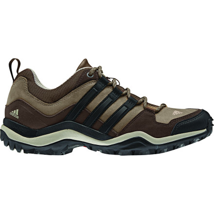 Camp and Hike A nearby canyon can provide several hours of silent serenity, especially when you wear the Adidas Women's Kumacross Hiking Shoe to walk the maze of trails. Its solid midsole supports and cushions your steps in more strenuous terrain while the Traxion rubber outsole secures your steps on any type of trail. - $71.97