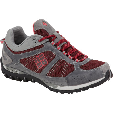 Camp and Hike Ladies, slide your feet into the Columbia Yama Outdry Hiking Shoes and head to the trail. Co-developed with female runners, the Yama features an articulated collar system that provides solid ankle support and a fabulous fit, while its waterproof breathable OutDry technology protects your feet from rain, mud, and wet debris. - $62.48