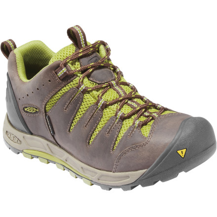 Camp and Hike Traveling with your heavy hiking boots would be a giant hassle, but traveling with the streamline, lightweight Keen Women's Bryce WP Hiking Shoe is a snap. Keen cut this shoe low, but didn't cut out this shoe's ability to keep your toes dry or protect them from rough terrain. Ditch your boots for the Bryce shoe and never look back. - $124.95