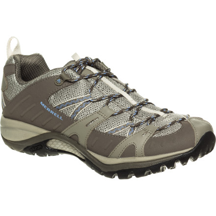 Camp and Hike Whenever you hear the wood sprites and mountain spirits calling your name, you don't resist; you simply lace on the Merrell Women's Siren Sport 2 Hiking Shoe and join them for an outdoor romp. Lightweight and low-profile yet supportive, the Siren Sport helps you push up the trails with its women-specific Qform Comfort design and high-traction Vibram sole. - $89.95