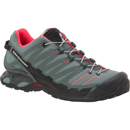 Camp and Hike To tame the rugged, uneven terrain of the backcountry, you're going to need all the support you can get. Sign up for the Salomon Women's X-Over Hiking Shoe, and watch the miles slide by effortlessly. - $38.99