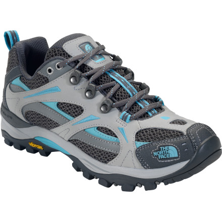 Camp and Hike Trekking over rocky terrain feels like prancing across a bed of springy moss when youre wearing The North Face Womens Hedgehog III Hiking Shoes. Ergonomic footbeds, impact-absorbing EVA midsoles, and extra padding in the heel and forefoot all contribute to this hikers cushiness. - $64.97