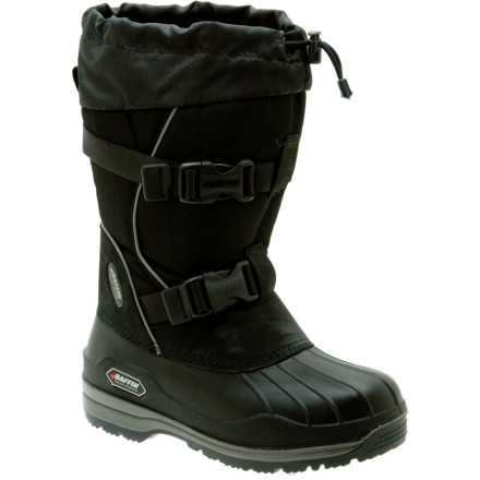 Camp and Hike Designed for use in the planet's coldest regions, the Baffin Women's Impact Winter Boot is rated to an amazing -148F (-100C). A two-buckle closure provides easy access when you're wearing gloves so you won't risk loosing fingers just to lace up your boots. A snow collar tops the 1000d Diamond-Lite insulated nylon upper and keeps your feet nice and dry. The Impact has removable liners so you can warm them up in your sleeping bag at night. A narrow heel profile will help these boots fit your feet great and the GelFlex shock absorbing system will keep them comfortable while you're pulling the sled over the miles ahead. - $127.96