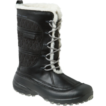 Get rugged yet stylish warmth when you lace up the Columbia Women's Heather Canyon Boot. Columbia ensured you (or at least your feet) will stay warm in temps as low as -25F by sandwiching the Omni-Tech thermal reflective insert into the boot. Omni-Shield advanced repellency sheds slush and snow, while faux fur lining keeps you extra cozy. - $59.97