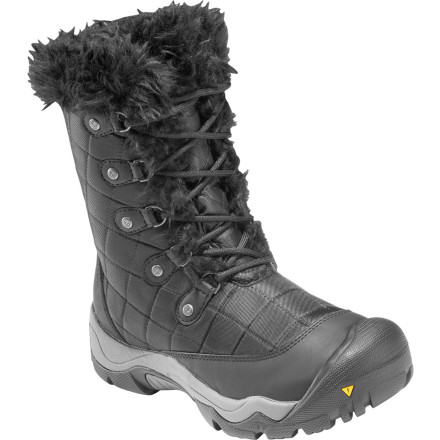Ski The KEEN Women's Sunriver High Boots take on snowy, winter weather with ease. Thanks to its feminine look and rugged design, you're able to explore ski-village shops, restaurants, and snow-packed trails in total confidence. - $58.48
